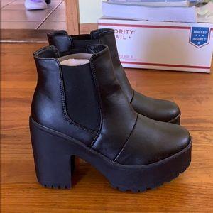 Black Nasty Gal boots